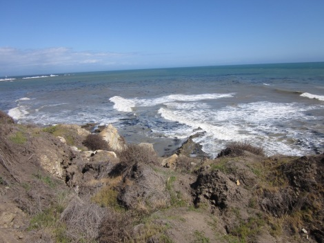 Coastline view of the Sunken City