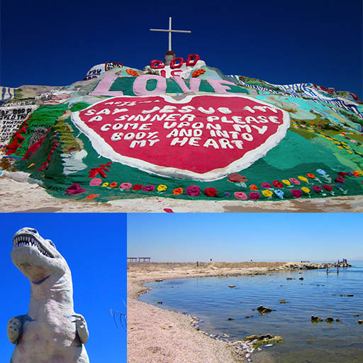 Day trip to Salvation Mountain Salton Sea and Cabazon Dinos One
