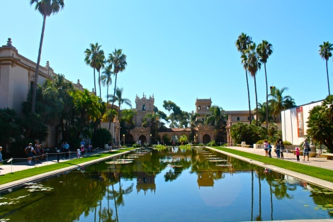 The famous shot of Balboa Park in front of the Botanic Garden