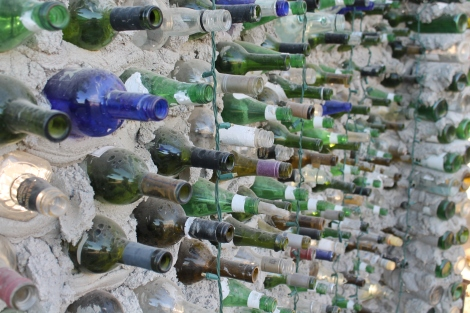 beer bottle wall