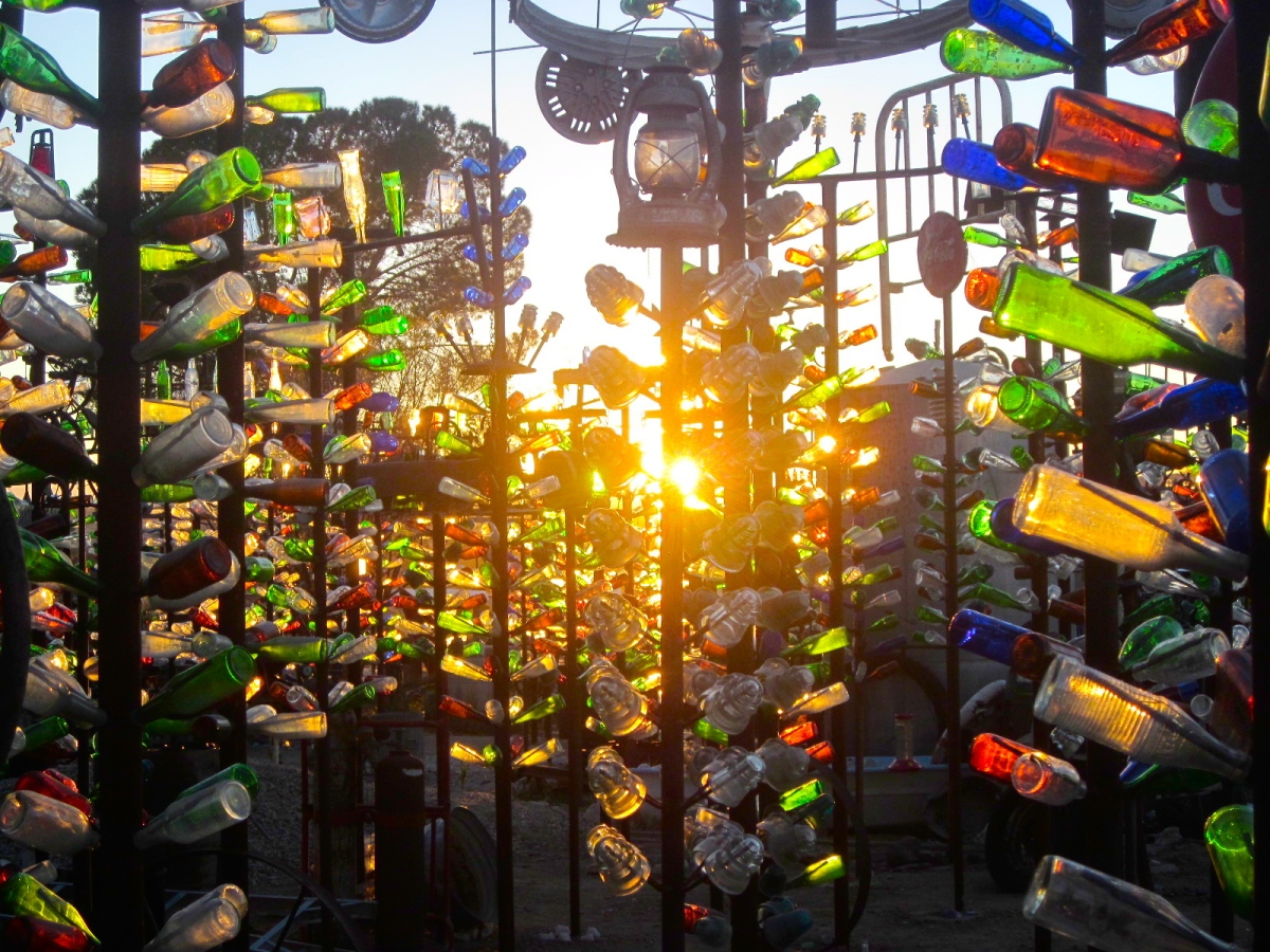 Exploring A Forest Of Bottle Trees On Route 66