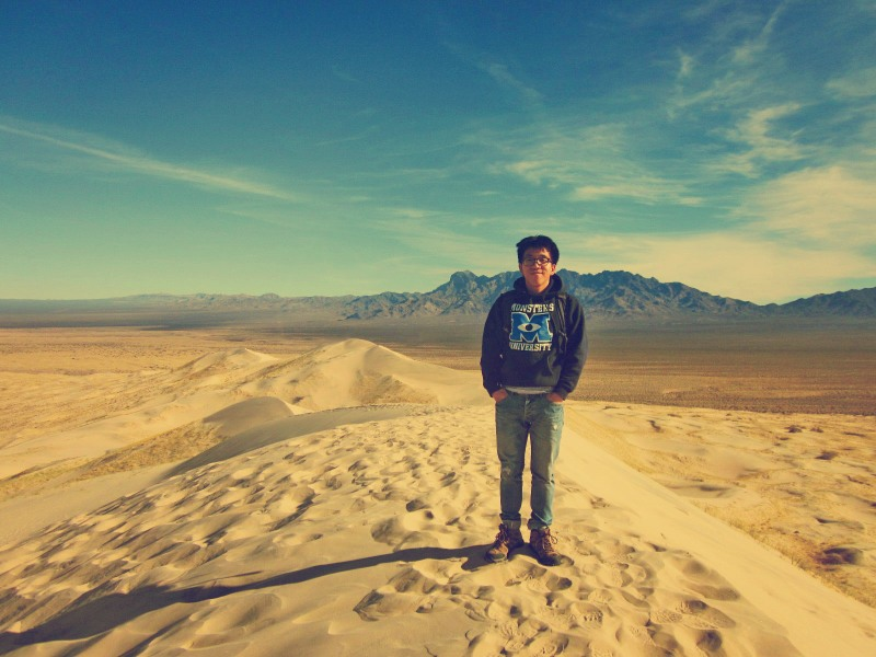 Me at the top of the dunes