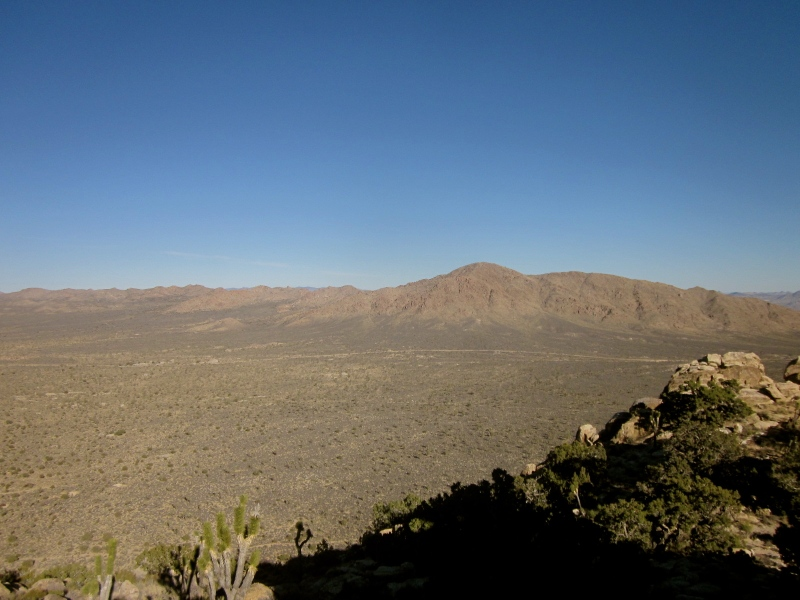 view at the top of the teutonia peak