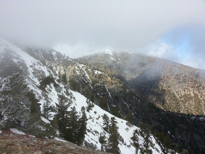 Beautiful day hiking mt. baldy