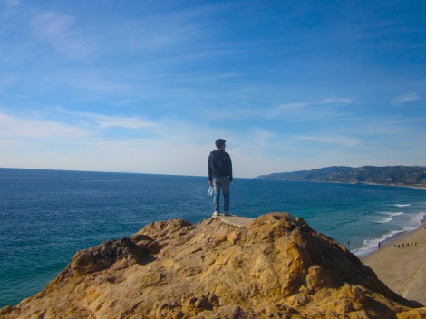 view from the Point Dume cliff