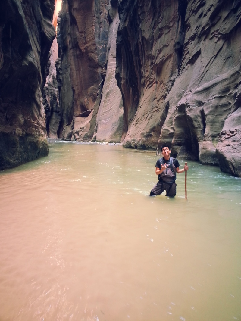 Me in the narrow section of the narrows