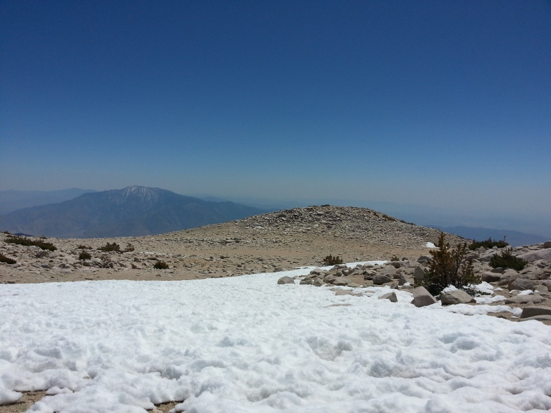 I hiked this in April, so there's still some snow left.