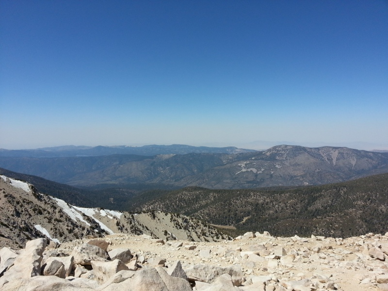 From the top, you can see the surrounding peaks and Big Bear Lake!