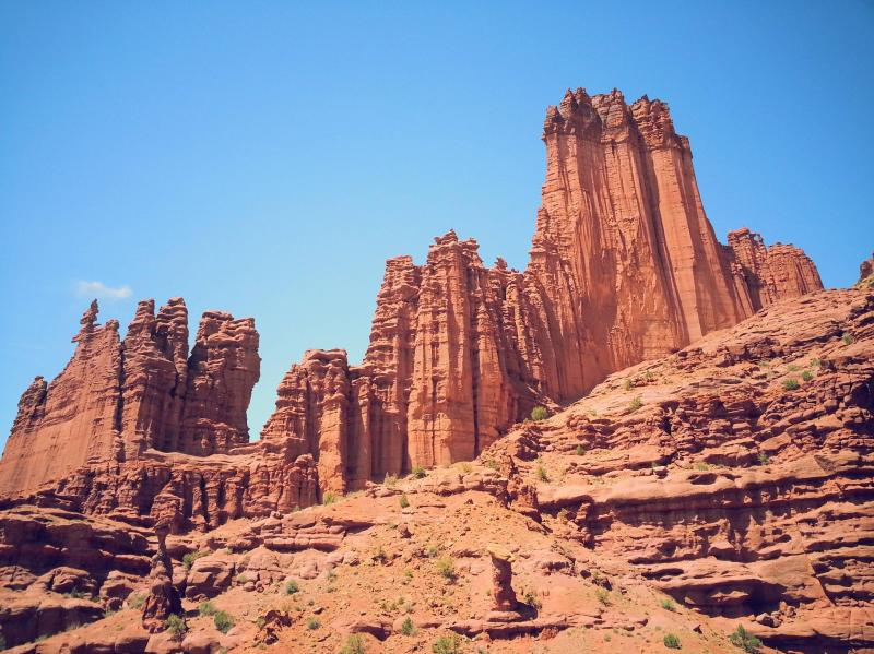 fisher tower in moab utah